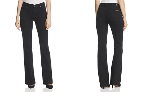 7 For All Mankind Bootcut Jean in Black - Bloomingdale's_2